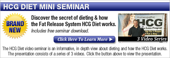 FRSseminarButton HCG Diet Phase 1 | The Loading Phase 1 Of The HCG Diet